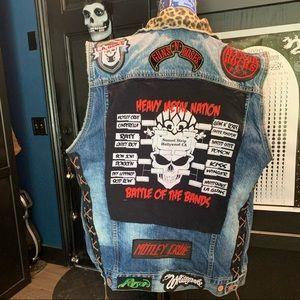 L.A 80's Sunset Strip Glam/Hair Metal Battle Vest!